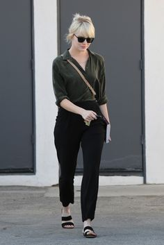 Emma Stone's Classic Outfit Works for Any Age via @WhoWhatWearUK