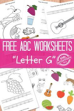 Letter G Worksheets