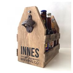 Personalized 6 Pack Beer Carrier makes the perfect gift for the groom!