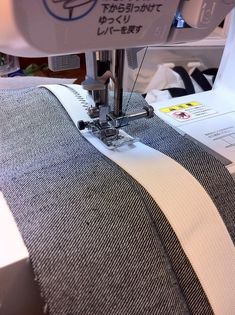 """Sewing Techniques Couture Inserting a stretch waistband - Hi! I'm got a newer, complete tutorial for this here! My love for stretchy waistbands is well documented, from my post about pull-on """"mom jeans"""" last summer to my recently-made collection of … Sewing Hacks, Sewing Tutorials, Sewing Crafts, Sewing Tips, Sewing Ideas, Sewing Basics, Sewing Lessons, Dress Tutorials, Craft Tutorials"""