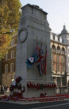 Cenotaph. Remembrance of veterans, London.