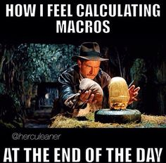 ...gotta be precise with your macros at the end of the day