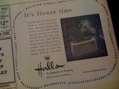 1952 Halls newspaper advertisement