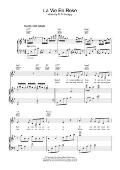 Learn to play Edith Piaf La Vie En Rose (Take Me To Your Heart Again) sheet music for Piano, Vocal & Guitar in minutes. Piano Sheet Music Classical, Piano Sheet Music Pdf, Jazz Sheet Music, Sheet Music Direct, Sheet Music Notes, Digital Sheet Music, Ukulele Chords Easy, Music Chords, Rose Music