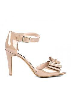 Kasha bow detail heel - Adobe