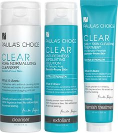 Paulas Choice CLEAR Extra Strength Acne Kit  2 Salicylic Acid  5 Benzoyl Peroxide for Severe Acne >>> Click image for more details.