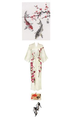 """""""Cherry Blossom Coi"""" by amy-jean ❤ liked on Polyvore featuring Charlotte Olympia"""