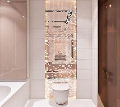 gold Bathroom Decor I set my mind on you you gorgeous rose gold mosaic bathroom. Mosaic Bathroom, Gold Bathroom, Bathroom Design Luxury, Bathroom Design Small, Rose Gold Interior, Bathroom Goals, Bathroom Inspiration, Mosaic Art, Art Art