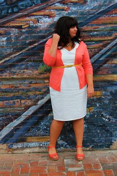 Fat Tuesday Fashion Pick: I love this dress, cardi, belt look that's going on. I just haven't been able to carry it off yet.