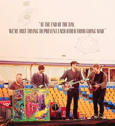 """""""At the end of the day, we're just trying to prevent each other from going mad."""""""