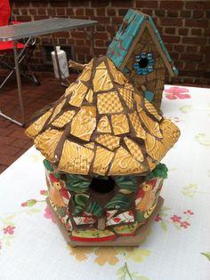 Mosaic birdhouse by Flower Floozy Designs