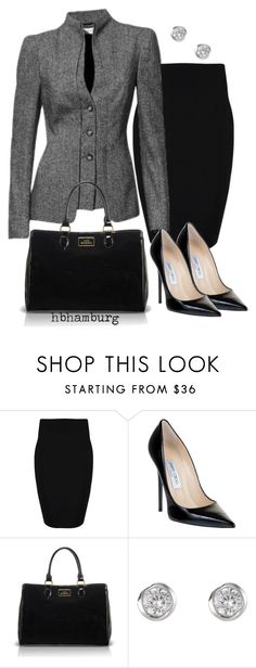 """No. 170 - Who's the boss ?"" by hbhamburg ❤ liked on Polyvore featuring Plein Sud, Jimmy Choo, Lulu Guinness and J by Jasper Conran"