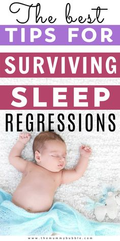 Everything you need to know about surviving sleep regressions in baby's first year. When do regressions typically hit and what you can do to help baby, and you, get more sleep. Baby Sleep Regression, Newborn Baby Tips, Babies First Year, New Mums, Baby Hacks, Parenting Hacks, Breastfeeding, Bubbles, Survival