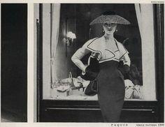 Vogue Pattern, 1955 Paquin  photo by Karen Radkai