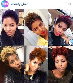 Tapered natural hair and color