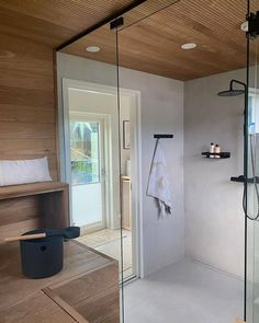 Bathroom Toilets, Laundry In Bathroom, Sauna Steam Room, Sauna Design, Grey Houses, Bathroom Essentials, Home Spa, Home Reno, Decoration