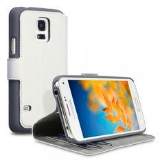 Θήκη Πορτοφόλι Samsung Galaxy S5 mini by Covert - (117-002-717) Λευκό - myThiki.gr - Θήκες Κινητών-Αξεσουάρ για Smartphones και Tablets - Χρώμα Λευκό Samsung Galaxy S5 Mini, Phone, Cases, Products, Leather Satchel, Gray, Cards, Totes, Telephone