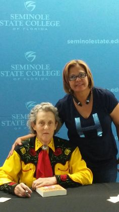 With one of my favorite people, Dr. T. Grandin 💝