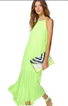 Lime maxi dress