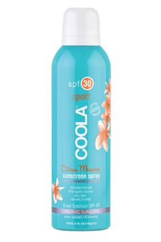 Yup, there are even natural spray formulas. This organic sunscreen is infused with antioxidants AND is manufactured in a solar-powered facility that uses the least amount of energy and waste possible.  $32; coolasuncare.com   - ELLE.com