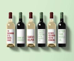 Holiday Wine Label Collection Christmas by ClassyCardsCreative