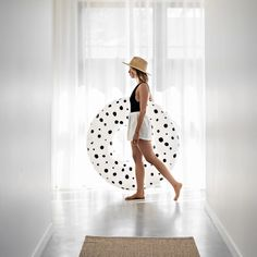 Stylish Pool Floats & Inflatables   &SUNDAY Designer Pool Float - &SUNDAY USA Offshore Wind, Dot Dot, Short Sleeve Dresses, Dresses With Sleeves, Pool Floats, Summer Fun, Simple Designs, Tube, Bubbles