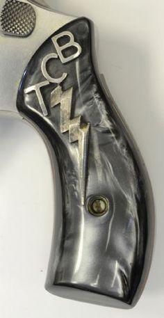 TCB gun handle on one of Elvis's guns.