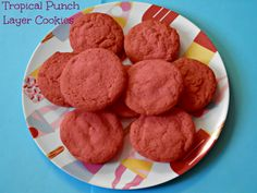 The cookies I made using Kool Aid and Tropical Punch @Oreo - it was delicious!