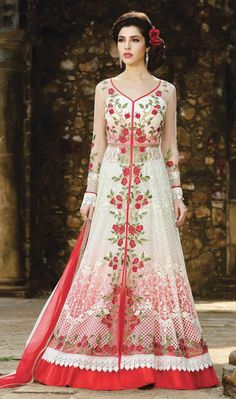 buy lehenga choli online from our extensive collection of indian wear. Buy this impeccable embroidered, lace and resham work long choli lehenga for wedding. Long Choli Lehenga, Lehenga Choli Online, Indian Lehenga, Anarkali Dress, Anarkali Suits, White Anarkali, Long Anarkali, Simple Anarkali, Net Lehenga