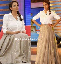 lakshmi manchu memusaitham long skirt 577x600 photo
