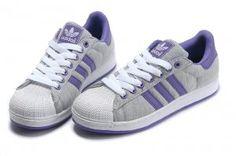 98fc2bf301d1 Originals Adidas Jeremy Scott Superstar Grey White Purple Shoes
