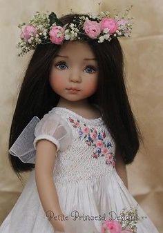"Smocked Embroidered Silk Dupioni Ensemble for Effner 13"" Little Darling Dolls | eBay"