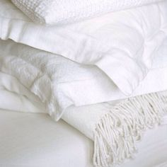 I just love waking up in all white linen White Pillows, White Bedding, Bedding Sets, Throw Pillows, All White Bedroom, Master Bedroom, White Cottage, Rose Cottage, Linens And Lace