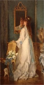Woman in front of a mirror - Alfred Émile Léopold Stevens - The Athenaeum