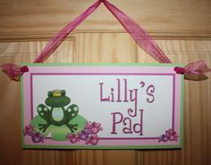 Frog Princess Prince Girls Baby Nursery Bedroom by ToadAndLily, $14.00