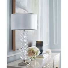 John-Richard Collection Stacked Tulip Buffet Lamp ($850) ❤ liked on Polyvore featuring home, lighting, table lamps, handmade lamps, john richard lighting, stacked lamp, john richard lamps and tulip table lamp