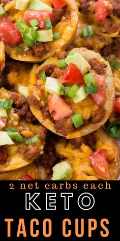 These easy Keto Taco Cups are made with low carb fat head dough, seasoned taco meat and cheddar cheese! Each cup is less than 2 net carbs and loaded with taco flavor! Low Carb Tacos, Low Carb Lunch, Low Carb Keto, Meat Appetizers, Appetizer Recipes, Dinner Recipes, Mexican Food Recipes, Keto Recipes, Healthy Recipes