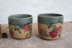 Clay Cup set of 2 handmade tumbler handmade pottery tea cups yoga cup wine cup unique teacup handless stoneware cup unique gift for her by ManuelaMarinoCeramic on Etsy Contemporary Ceramics, Modern Contemporary, Clay Cup, Ceramic Coffee Cups, Unique Gifts For Her, Cupping Set, Handmade Pottery, Teacups, Ceramic Art