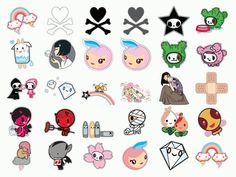 tokidoki Tattoos | Heads Tokidoki Dock Icon Vector Images Free Art Graphics