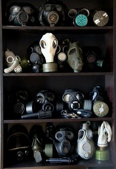 Gas mask typology.---only a whovian knows just how terrifying this is...