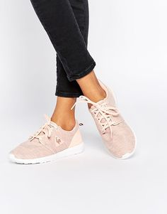 Tendance Chausseurs Femme 2017 Le Coq Sportif Dynacomf Summer Jersey Pink Marl Trainers at asos.com