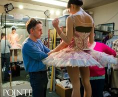Lia Cirio getting fitted for her Sugar Plum tutu. Photo by Liza Voll.