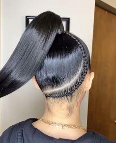 High Ponytail Braid, Hair Ponytail Styles, Weave Ponytail Hairstyles, High Ponytails, Baddie Hairstyles, Straight Hairstyles, Knotted Braid, Natural Straight Hair, Natural Hair Styles