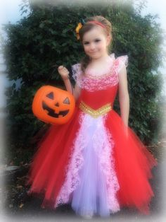 Adorable Disney's Elena Avalor Inspired Tutu dress Costume fits Girls Age 6 #PjsDreamsSissyLove #Dress