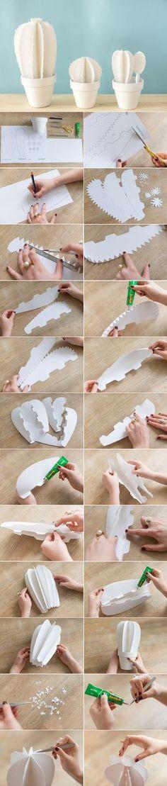 DIY Du cactus en Papier