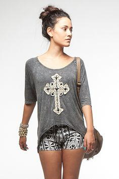 Royal Cross Tee from Ava Adorn
