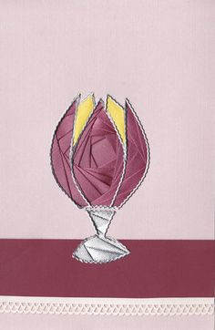 Iris folded lamp