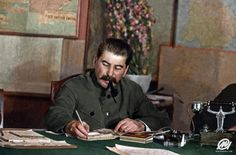 Stalin during a conference in the Kremlin, Moscow, March : ColorizedHistory Lake Elsinore California, Joseph Stalin, From Here To Eternity, History Education, Prisoners Of War, Soviet Union, Soviet Art, History Photos, American Soldiers
