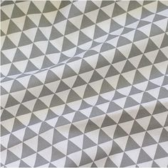 Mini Triangles Cotton Fabric - Grey - By the Yard 38839 on Etsy, $13.31 AUD
