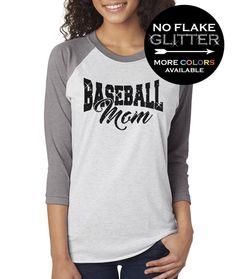 8219850ed Baseball Mom Shirt 3 4 length Baseball Triblend Tee for Women GLITTER